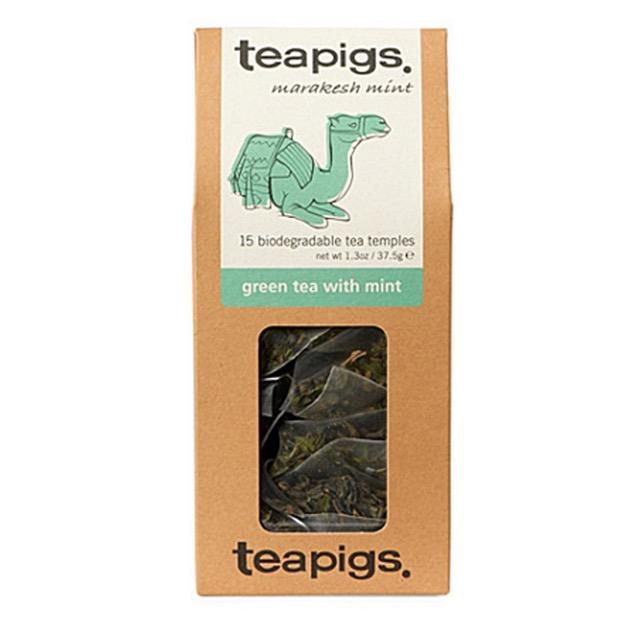 Green tea with mint thebreve fra teapigs